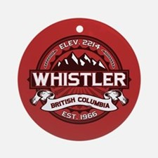 Whistler Red Ornament (Round)