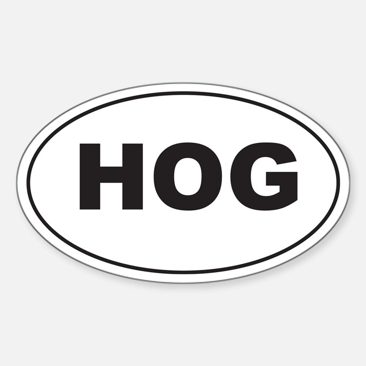 Black HOG Decal