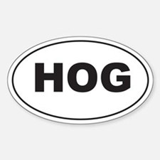 Black HOG Sticker (Oval)