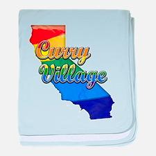 Curry Village, California. Gay Pride baby blanket