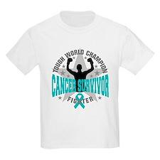 Peritoneal Cancer Tough Men Survivor T-Shirt