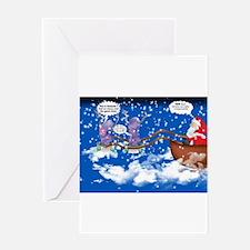 Alien Reindeer Greeting Card