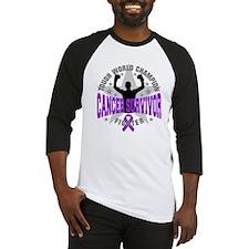 Pancreatic Cancer Tough Survivor Baseball Jersey