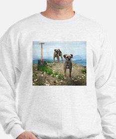 Two Working Terriers and Shov Sweatshirt
