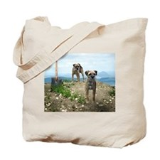 Two Working Terriers and Shov Tote Bag