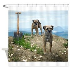 Two Working Terriers and Shov Shower Curtain