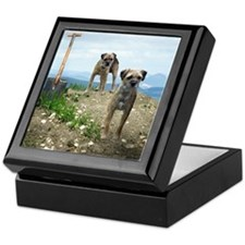 Two Working Terriers and Shov Keepsake Box