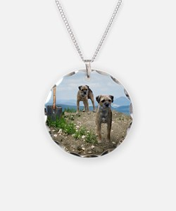 Two Working Terriers and Shov Necklace