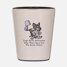 Running Dog Shot Glass