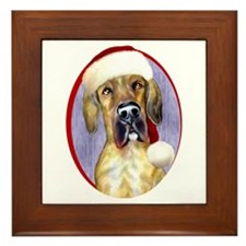 Santa Dane Brindle UC Framed Tile