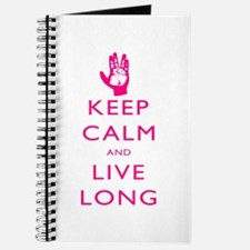 Keep Calm and Live Long Pink Journal