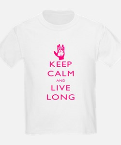 Keep Calm and Live Long Pink T-Shirt