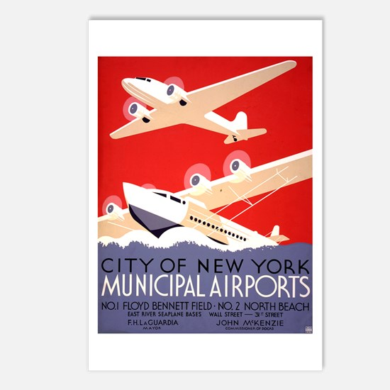 NYC Airports Postcards (Package of 8)