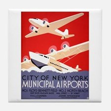 NYC Airports Tile Coaster