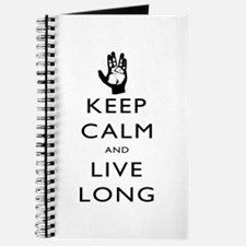 Keep Calm and Live Long Black Journal