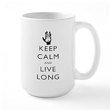 Keep Calm and Live Long Black Mug