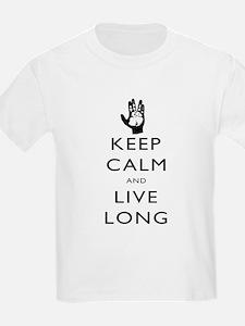 Keep Calm and Live Long Black T-Shirt