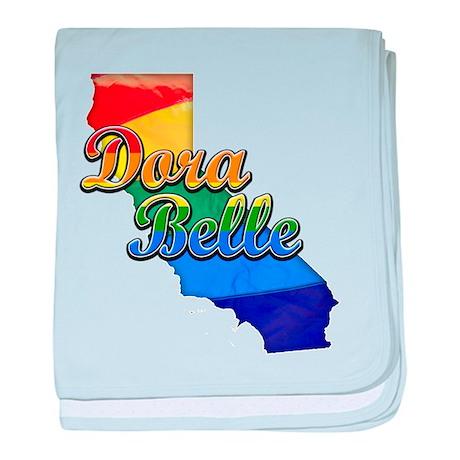 Dora Belle, California. Gay Pride baby blanket