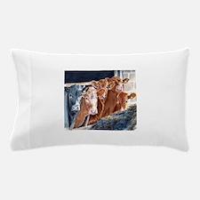 Calves at Brunch Pillow Case