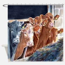 Calves at Brunch Shower Curtain