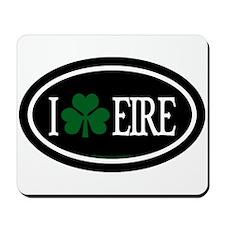 I Love Eire Euro Mousepad