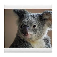Koala Face 3 Tile Coaster
