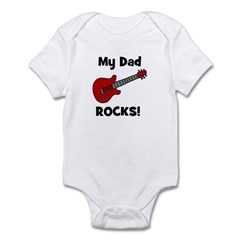 My Dad Rocks! w/ guitar Infant Creeper