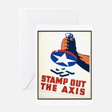 Stamp Out The Axis WW II Poster Greeting Card