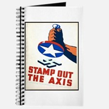Stamp Out The Axis WW II Poster Journal