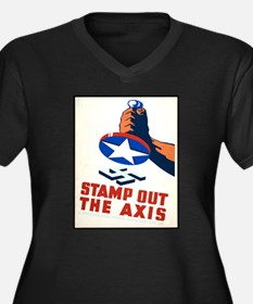 Stamp Out The Axis WW II Poster Women's Plus Size