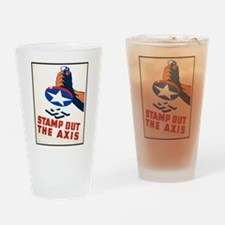 Stamp Out The Axis WW II Poster Drinking Glass