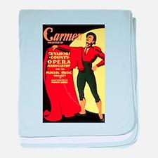 Carmen Opera Poster baby blanket