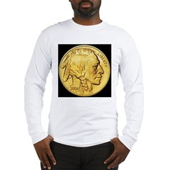 Black-Gold Indian Head Long Sleeve T-Shirt