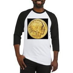 Black-Gold Indian Head Baseball Jersey