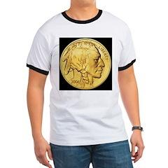 Black-Gold Indian Head T