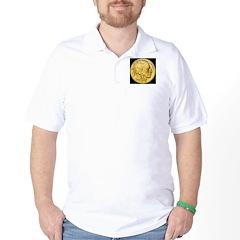 Black-Gold Indian Head T-Shirt