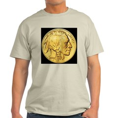Black-Gold Indian Head Ash Grey T-Shirt