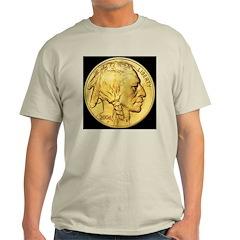 Black-Gold Indian Head Ash Grey T-Shirt