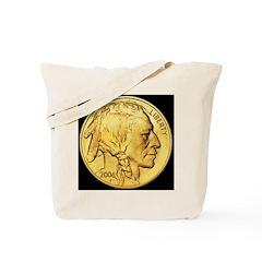 Black-Gold Indian Head Tote Bag