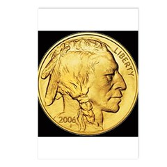 Black-Gold Indian Head Postcards (Package of 8)