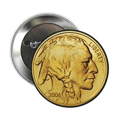 Black-Gold Indian Head 2.25