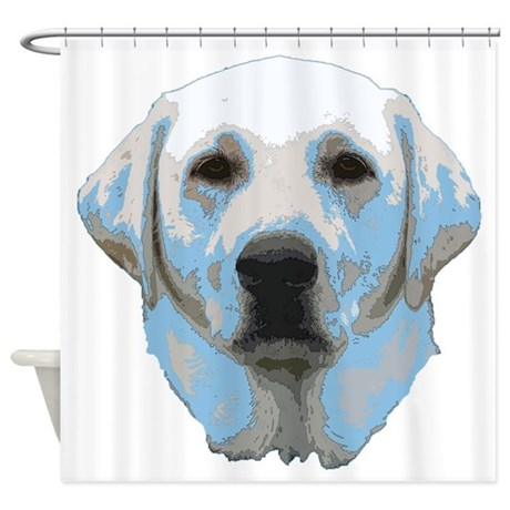 Lab Portrait Shower Curtain