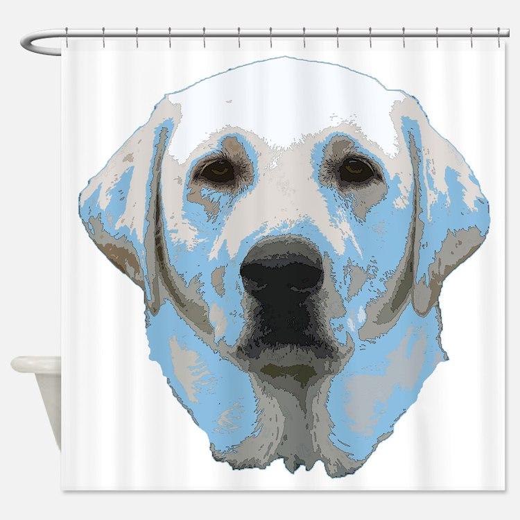 Lab Portrait Shower Curtain