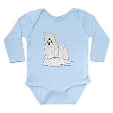 Shih Tzu with Halo Long Sleeve Infant Bodysuit