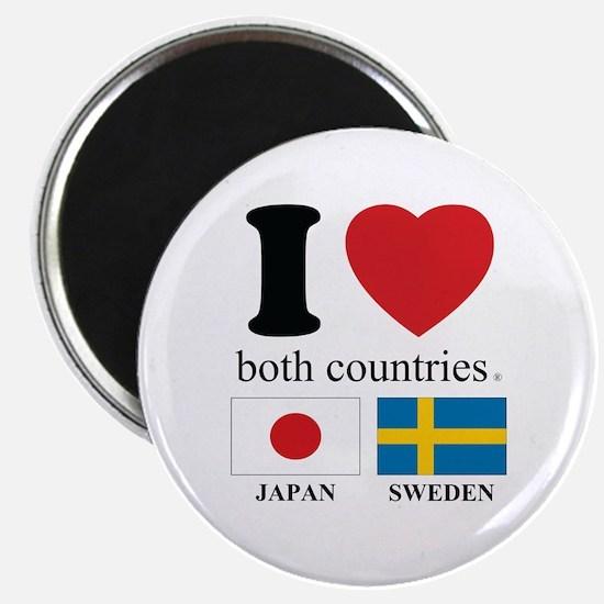 """JAPAN-SWEDEN 2.25"""" Magnet (10 pack)"""