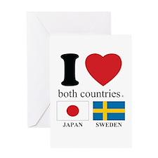 JAPAN-SWEDEN Greeting Card