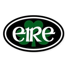 Eire Euro Oval Bumper Stickers