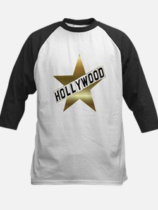hollywood sign gold.black Baseball Jersey