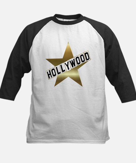 hollywood sign gold.black Baseball Jersey