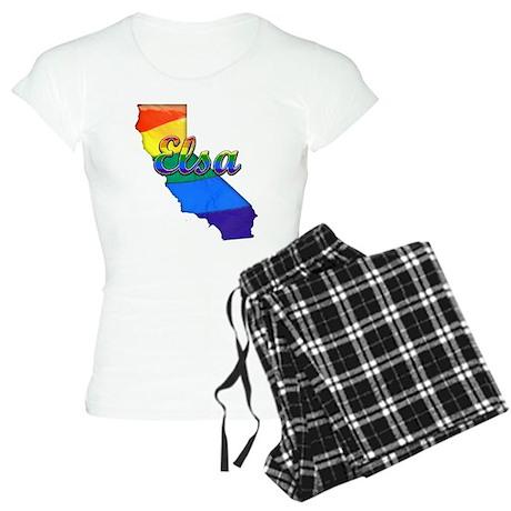 Elsa, California. Gay Pride Women's Light Pajamas